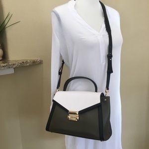 Michael Kors Whitney satchel olives multi bag